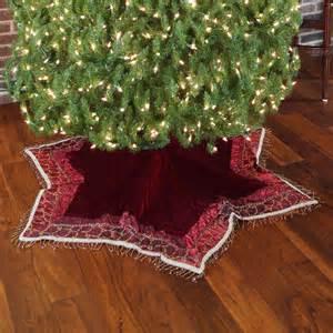 tree skirts 56 quot solid burgundy velvet tree skirt with tassels