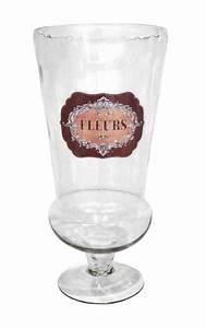 Grand Vase En Verre : grand vase en verre souffl avec tiquette maill e fleurs ~ Teatrodelosmanantiales.com Idées de Décoration