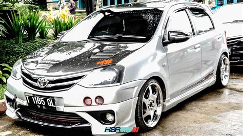 Toyota Etios Valco Modification by Modifikasi Toyota Etios Valco Menggunakan Hsr Wheels