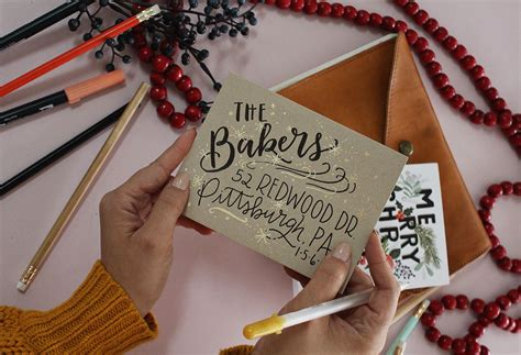 5 Holiday Card Envelope Decorating Ideas Christmas