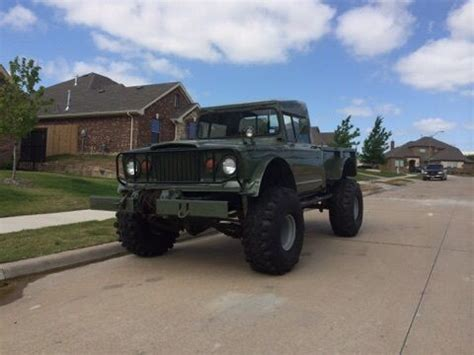 kaiser jeep lifted lifted jeep hummer m715 military rock crawler truck