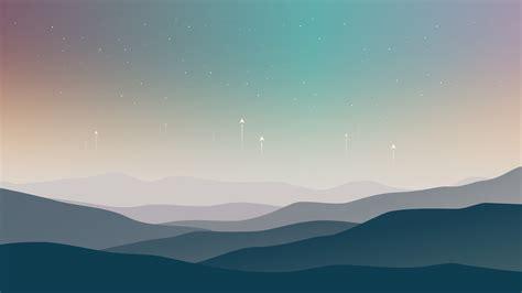 Wallpaper Landscape, Minimal, Stars, Cold, Hd, 5k