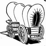 Coloring Cabin Pioneer Wagon Printable Clipartmag sketch template
