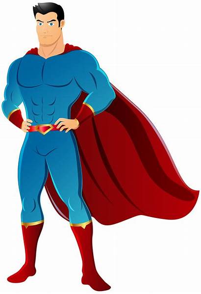 Superhero Superman Transparent Clipart Background Super Cartoon