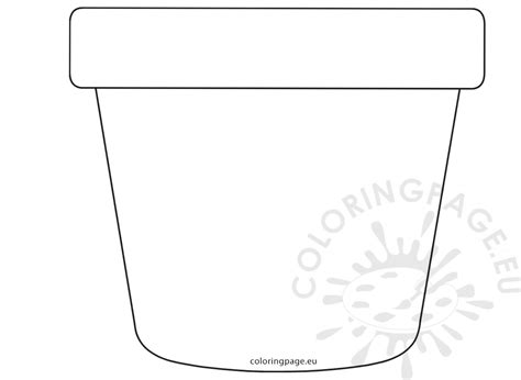 Flower Pot Template Flower Pot Template Sketch Coloring Page