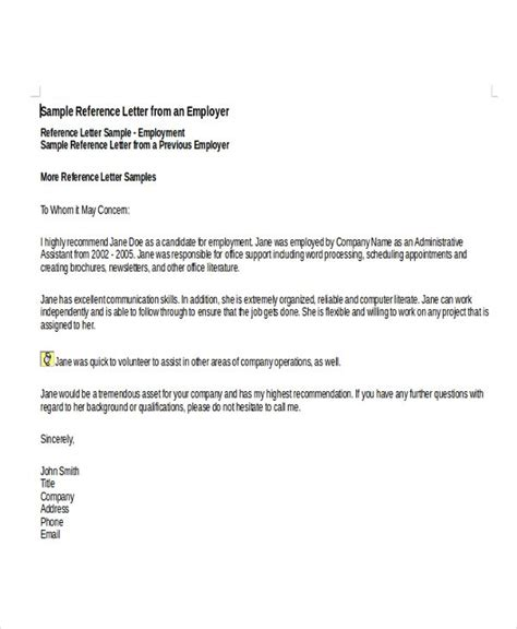 image result  template reference letter  employee