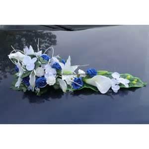 fleurs artificielles mariage splendide bouquet de voiture de mariage avec roses bleu et blanches bouquet de la mariee