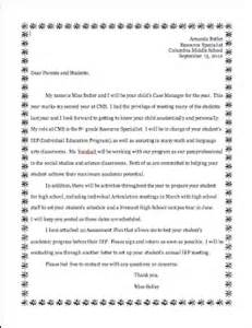 letter of introduction to parents from student teacher a to z