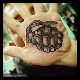 Skeleton Hand Grenade Tattoo | 600 x 600 jpeg 52kB