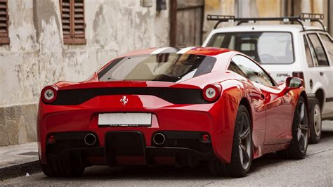 wallpaper ferrari  speciale supercar  view red