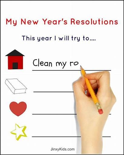 Resolution Resolutions Printable Sheet Activity Eve Worksheet