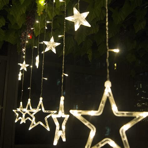 hanging star christmas lights 2 5m 168 led curtain star string christmas lights lighting
