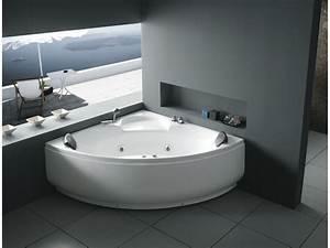 Baignoire 2 Places Balneo : baignoire baln o d 39 angle colorado 2 places 150x150x62cm ~ Edinachiropracticcenter.com Idées de Décoration
