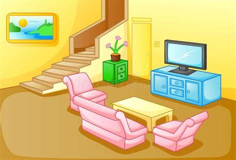 interior de una sala de estar de la casa ilustracion del