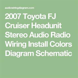 2007 Toyota Fj Cruiser Headunit Stereo Audio Radio Wiring Install Colors Diagram Schematic