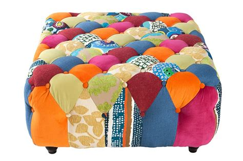 Material Of Sofa by Hocker Chesterfield Patchwork Bunt 36039 4615