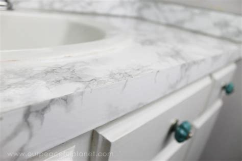 How to do a Sturdy & Stunning Granite Contact Paper