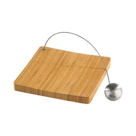 porte serviette de table avec plateau en bois de bambou