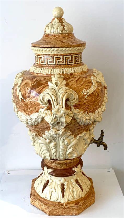 monumental neoclassical aptwaremixed earth lavabo wine urn  sale  stdibs