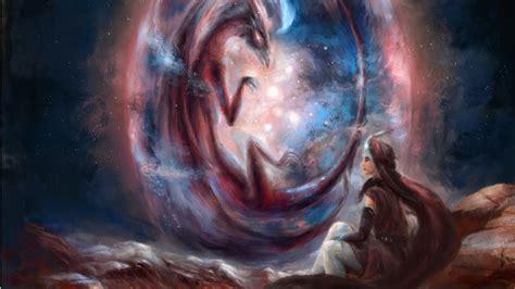 Cosmic Dragon - Digital Speed Painting by Ekaterinya ...