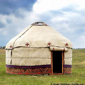 Mongolian yurt (ger). Gers are traditional Mongolian homes ...