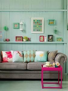 plonger dans la couleur turquoise et colorer la maison With tapis de souris personnalisé avec bout de canapé moderne