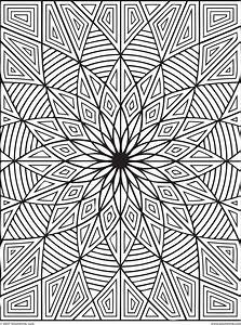 Free coloring pages of geometric patterns