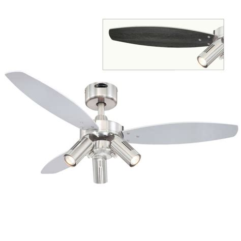 silver blade ceiling fan jet plus ceiling fan with wengue and silver blades 72290
