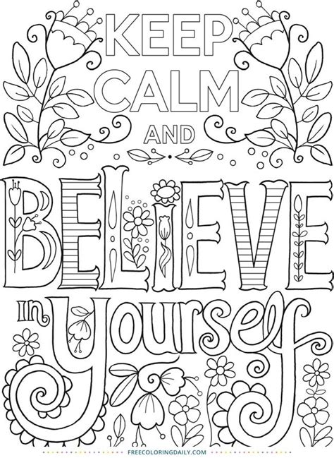 calm coloring coloring pages quote coloring pages