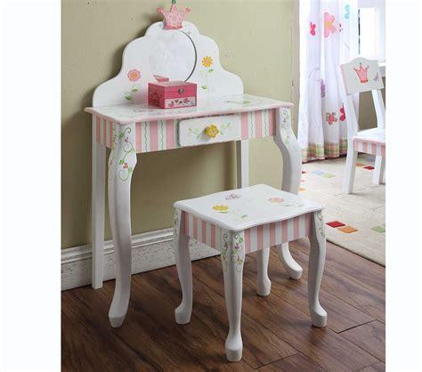 Kids Vanity Furniture by Dreamfurniture Com Teamson Kids Girls Vanity Table And