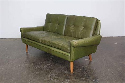mid century modern loveseat mid century modern green leather loveseat by skippers