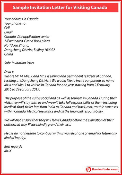 invitations letter  canada