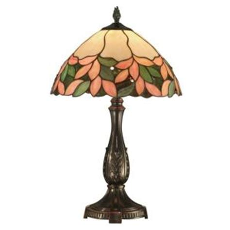 home depot tiffany ls dale tiffany crystal leaf 23 in antique bronze table l