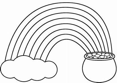 Rainbow Pot Template March Crafts Coloring Rainbows