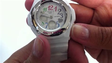 Women's White Baby-g Analog Digital Watch Bga101-7b