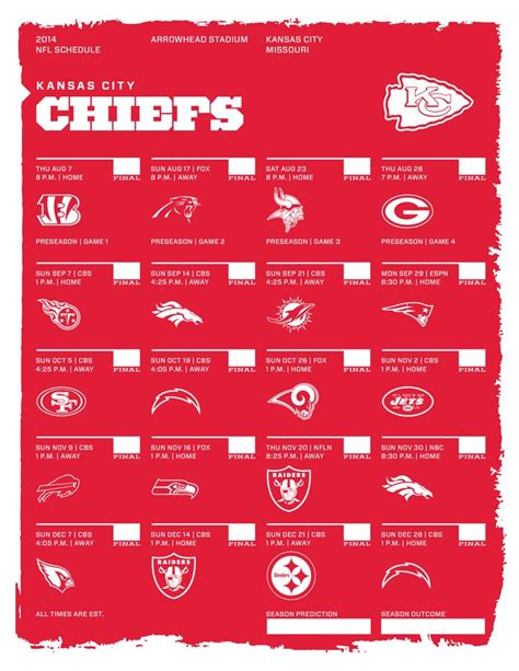 nfl schedules images  pinterest nfl