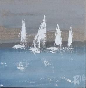 Gemalte Bilder Auf Leinwand : maritime kunst atelier malerei art of sailing meer als ein gef hl regatta segler auf ~ Frokenaadalensverden.com Haus und Dekorationen