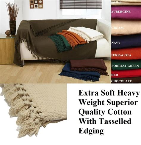 Settee Throw by 100 Cotton Honeycomb Waffle Sofa Settee Bed Throw With