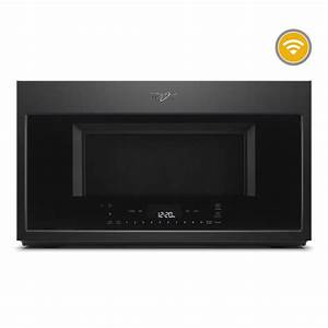 Whirlpool 1 9 Cu  Ft  Smart Over The Range Convection