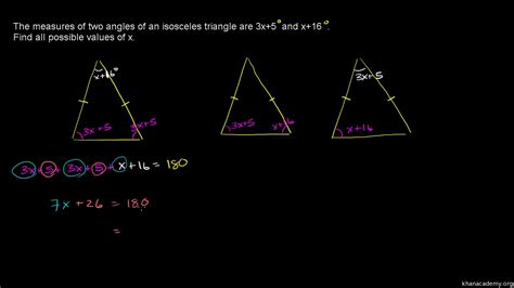 finding angles  isosceles triangles db excelcom