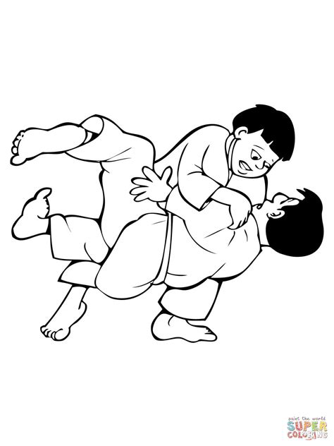 Kleurplaat Judo by Judo Coloring Pages Coloring Home