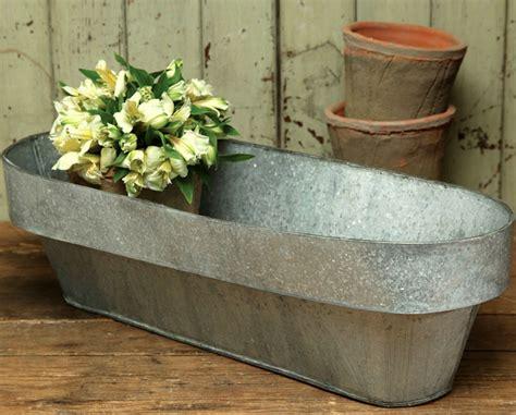 galvanized steel planters 10 easy pieces galvanized trough planters gardenista 1189
