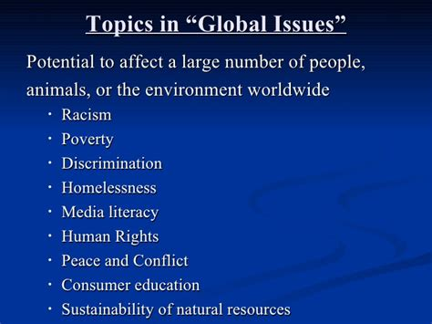 Global Issues Presentation