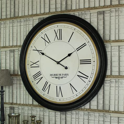 extra large  wooden wall clock windsor browne