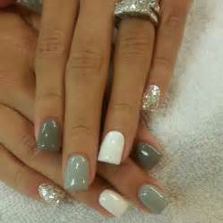 Gallery for gt white gray ombre nails