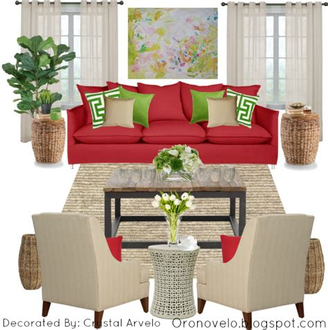 oronovelo red couch living room ideas
