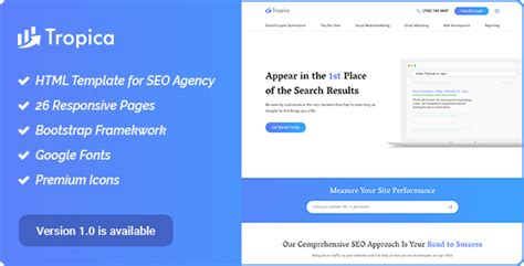 Digital Agency Seo Marketing Html Template Nulled by Seo Tropica Seo Template For Seo And Digital Agency