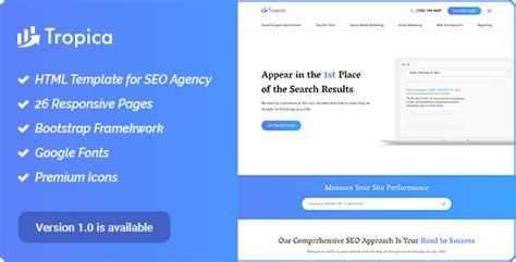 digital agency seo marketing html template nulled seo tropica seo template for seo and digital agency