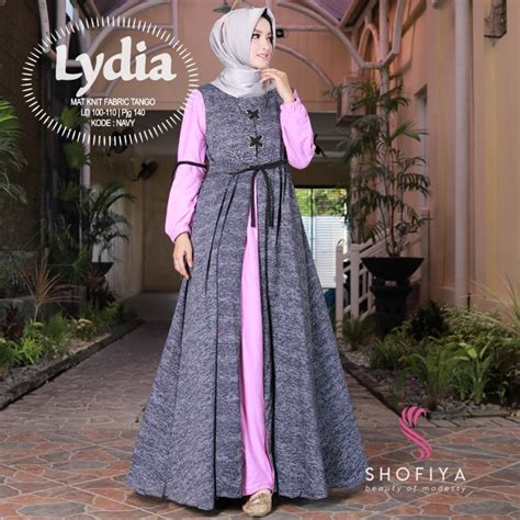 Harga Gamis Merk Aqila baju gamis terbaru harga murah untuk wanita muslimah bwm10