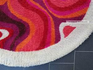 Teppich Rund 70 Cm : teppich 70er hochflor psychodelic carpet flower power space age rund 197 cm ~ Bigdaddyawards.com Haus und Dekorationen